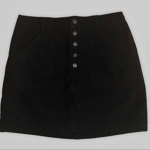 Hollister Ultra High-Rise Black Denim Skirt